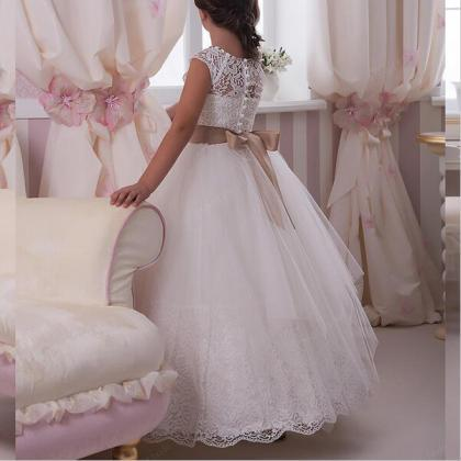 2018 New Princess Flower Girl Dress..