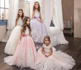 Girls Ball Gown Lace..