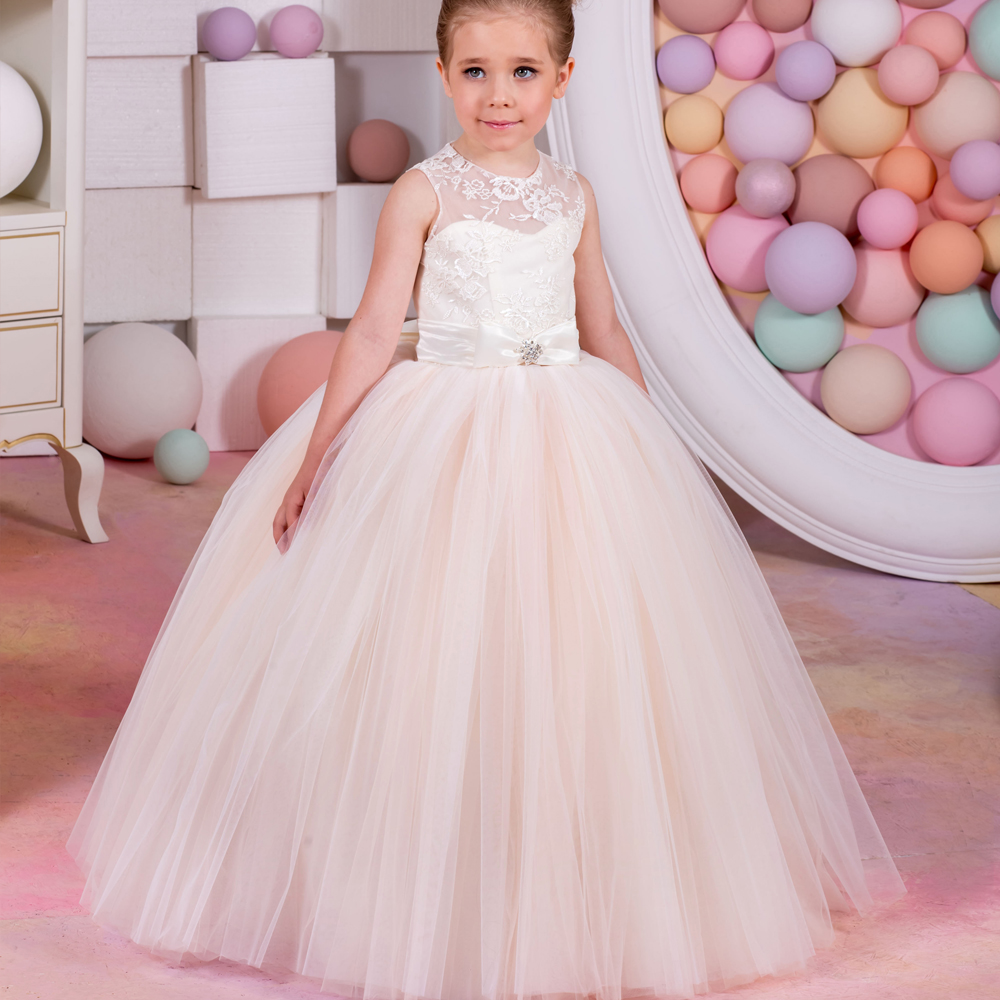 2018 New Pageant Dresses For Girls Glitz White And Ivory Lace Up Bow ...