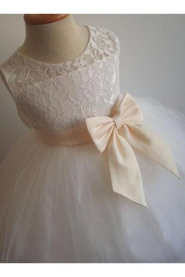 2020 Real Flower Girl Dresses with Sashes Ball Party Pageant Communion Dress for Little Girls KidsChildren Dress for Wedding