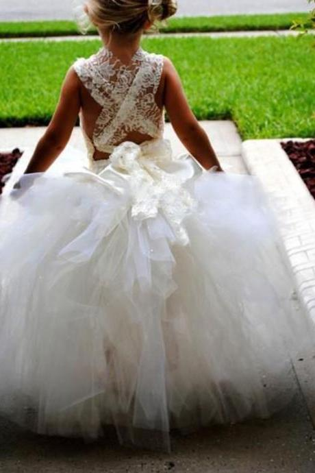 Flower Girl Dress 2018 Spaghetti Straps Real Sexy Children Ball Gown Kids Princess Prom Party Dresses