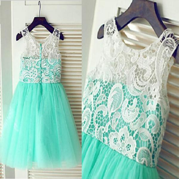 2020 Real Flower Girl Dresses with Button New Ball Party Pageant Dress for Wedding Little Girls KidsChildren Communion Dress